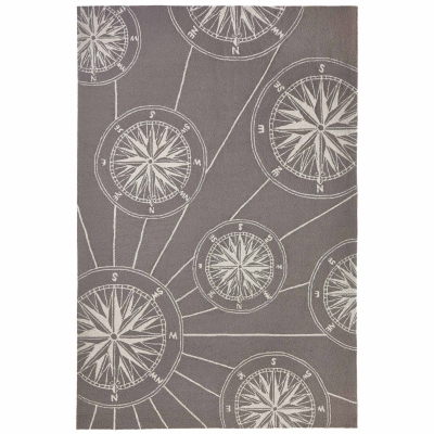 Frontporch Compass Indoor/Outdoor Rug - Grey