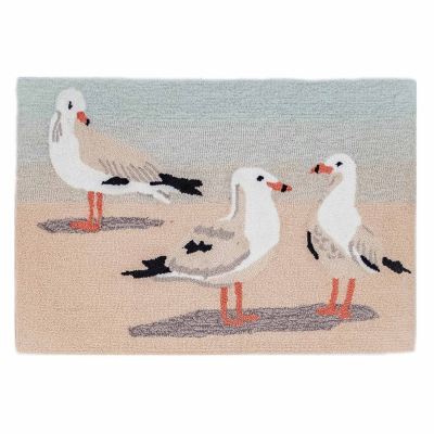 Frontporch Gulls Indoor/Outdoor Rug - Sand