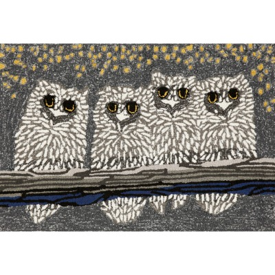 Frontporch Owls Grey Outdoor Rug