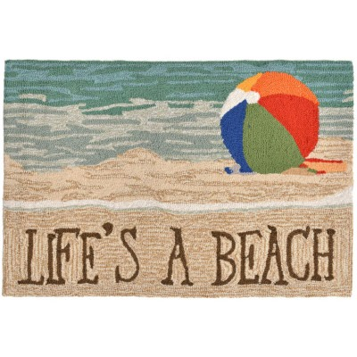 Frontporch Life's A Beach Indoor/Outdoor Rug - Sand