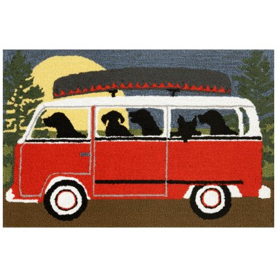 Frontporch Dog Camping Trip Outdoor Rug