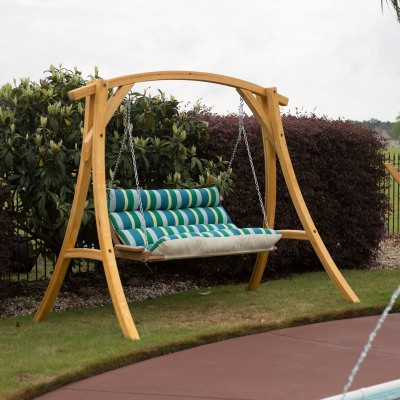 Deluxe Sunbrella Cushion Swing - Gateway Tropic