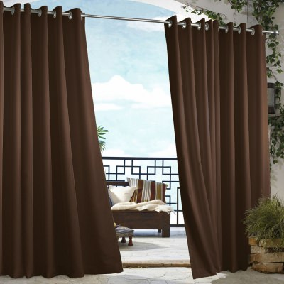 Chocolate Gazebo Polyester Outdoor Curtain