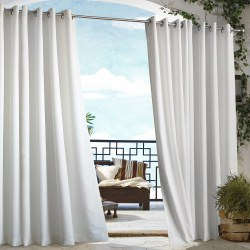 White Gazebo Polyester Outdoor Curtain