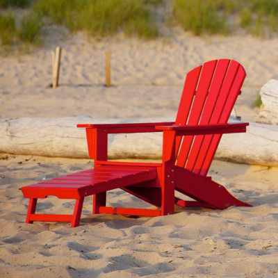 Palm Coast Adirondack Chair with Hideaway Ottoman