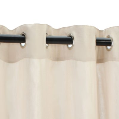 Sunbrella Sheer Illusion Sand Outdoor Curtain with Nickel Plated Grommets