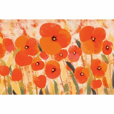 Illusions Poppies Indoor/Outdoor Mat - Red