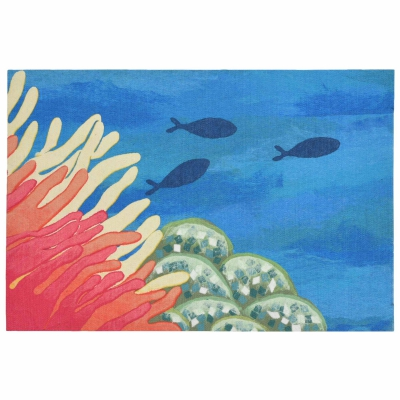 Illusions Reef & Fish Indoor/Outdoor Mat - Coral