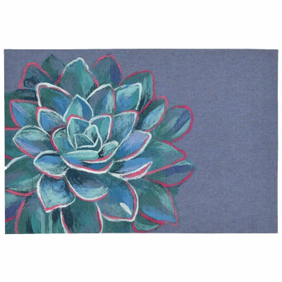 Illusions Succulent Indoor/Outdoor Mat - Lapis