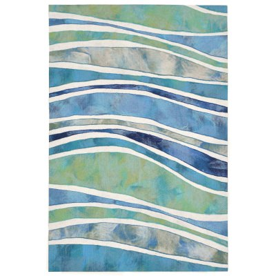 Illusions Wave - Ocean Indoor/Outdoor Mat