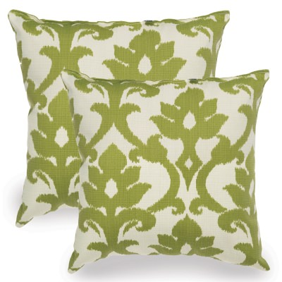 Kiwi Green Basalto Indoor/Outdoor Throw Pillow - Set of Two