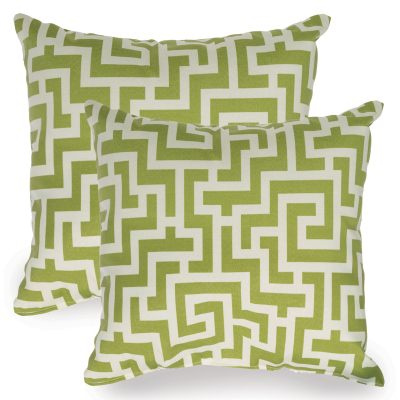 Kiwi Green Keyes Indoor/Outdoor Throw Pillow - Set of Two