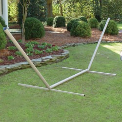 15 ft. Metal Hammock Stand with Cape Shield Powder Coating - Taupe