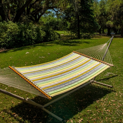 Large Quilted Sunbrella Fabric Hammock - Expand Citronelle