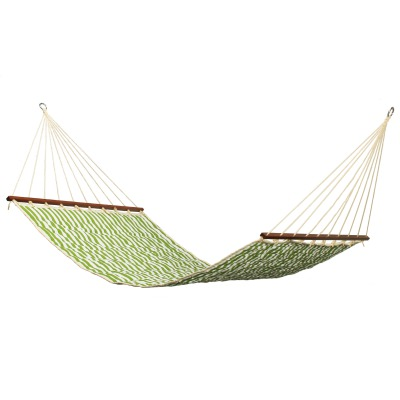 Large 2 Person Soft Polyester Quilted Hammock - Cabana Green