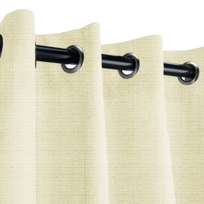 Sunbrella Linen Canvas Outdoor Curtain with Grommets