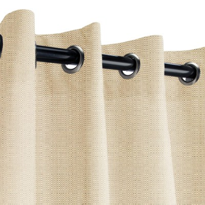 Sunbrella Linen Champagne Outdoor Curtain with Grommets