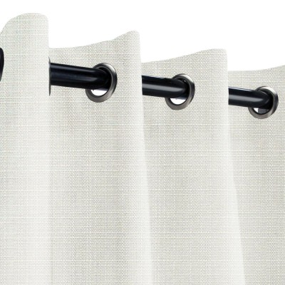 Sunbrella Linen Natural Outdoor Curtain with Grommets