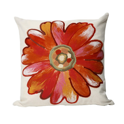 Daisy Orange Outdoor Pillow