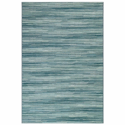 Marina Stripes Indoor/Outdoor Rug - Aqua