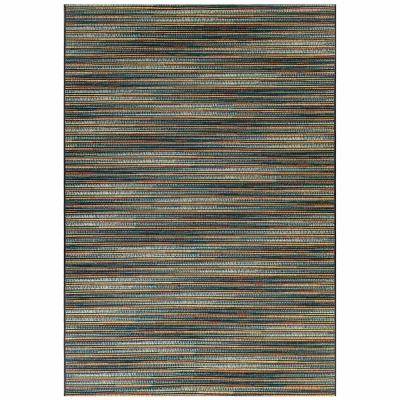 Marina Stripes Indoor/Outdoor Rug - Blue/Multi