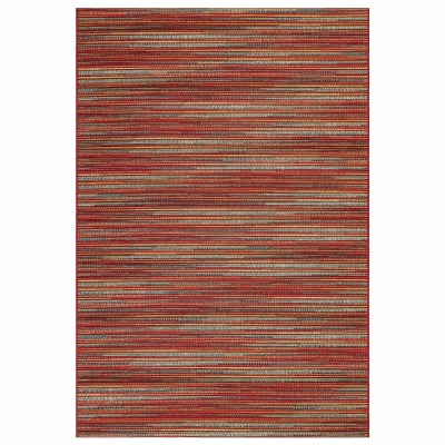 Marina Stripes Indoor/Outdoor Rug - Saffron