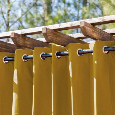 Medallion Gold Extra Wide Outdoor Curtain