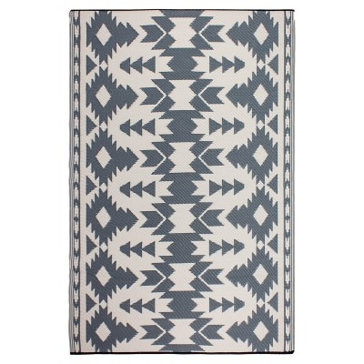Miramar Gray Recycled Indoor/Outdoor Mat