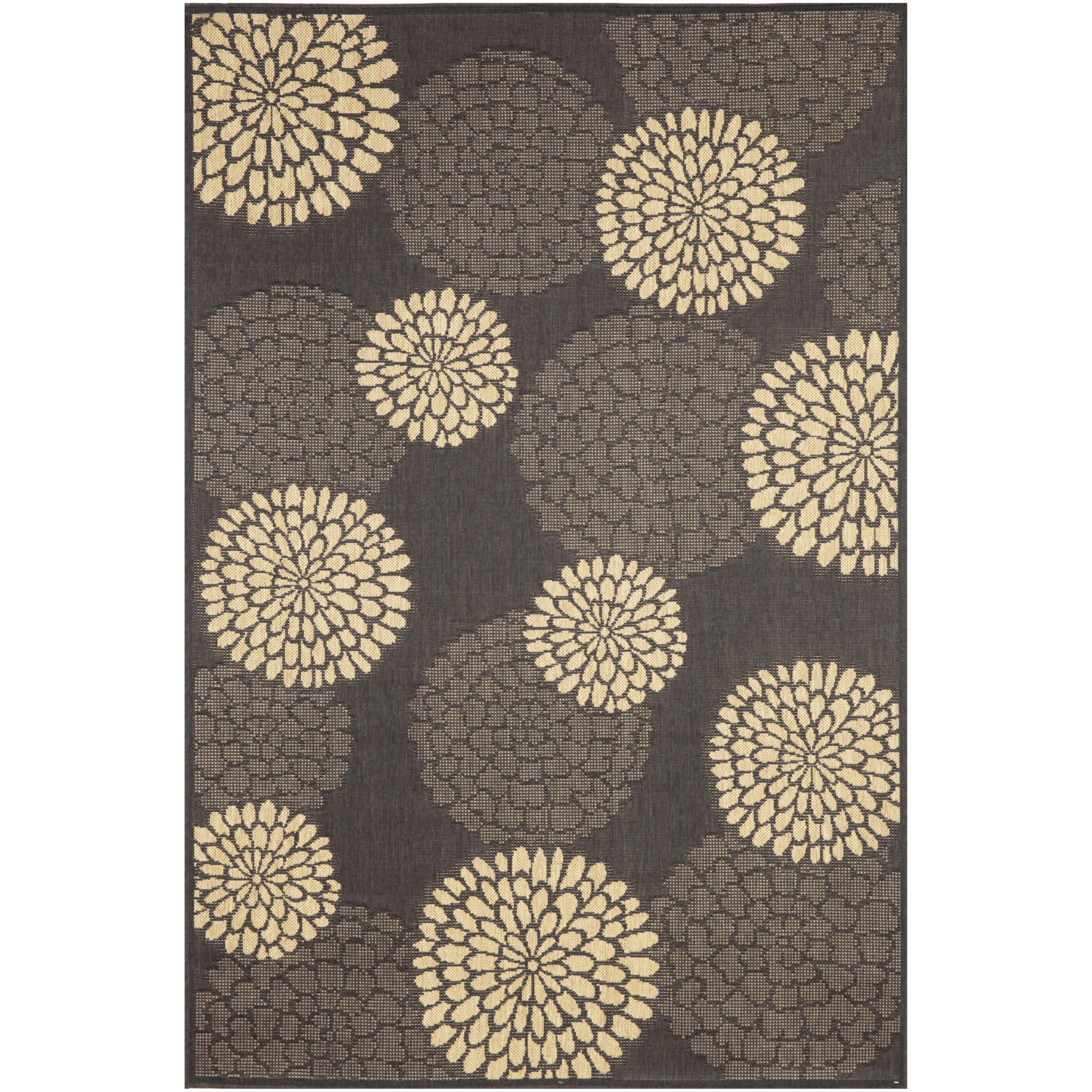 Mums Charcoal 7ft 10in Square Outdoor Rug