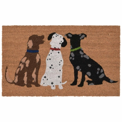Natura Three Dogs Outdoor Mat - Natural