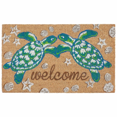 Natura Seaturtle Welcome Outdoor Mat - Natural