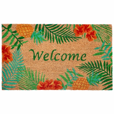 Natura Tropical Welcome Outdoor Mat - Natural