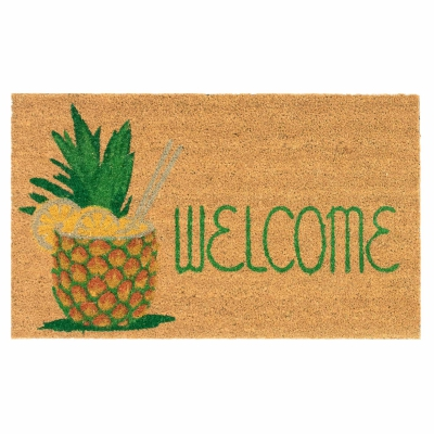 Natura Welcome Pineapple Outdoor Mat - Natural