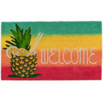 Natura Welcome Pineapple Outdoor Mat - Warm