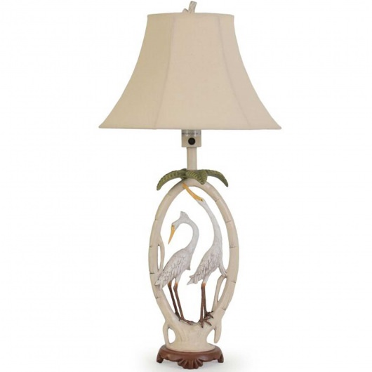 Double Egret Outdoor Table Lamp