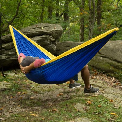 Castaway Double Travel Hammock with Hanging Straps