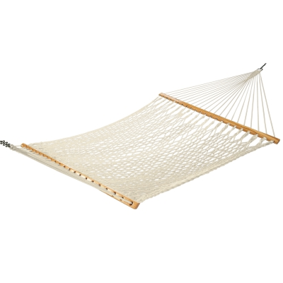 Traditional Cotton Rope Hammock with FREE Hanging Hardware