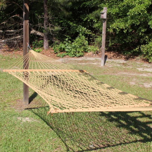 Large Gold Weathersmart Rope Hammock