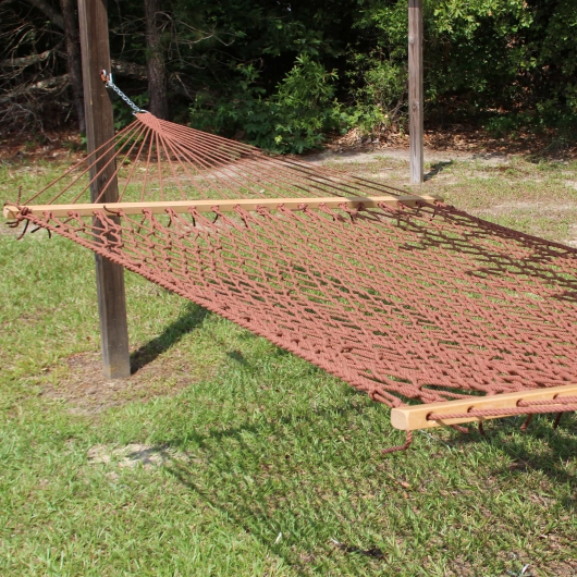 Large Rust Weathersmart Rope Hammock