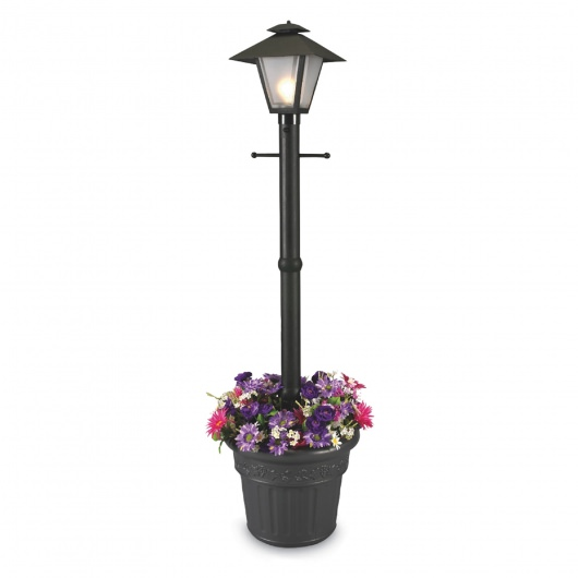 Cape Cod Post Lamp with Planter Base