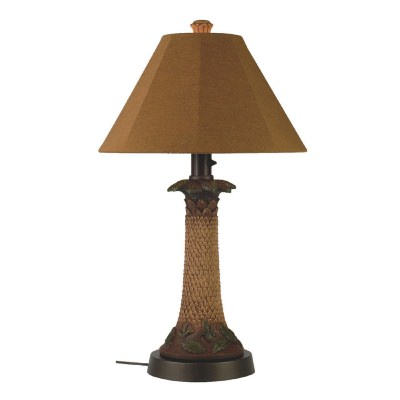Palm Outdoor Table Lamp with Sunbrella Shade