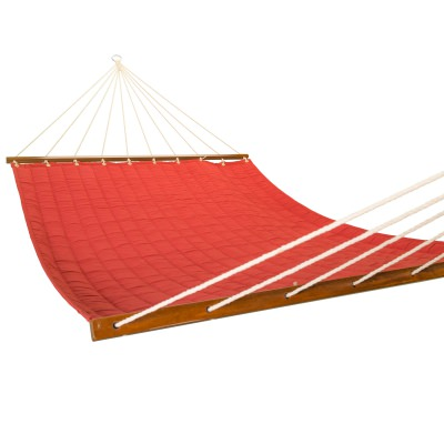 Large 2 Person Soft Polyester Quilted Hammock - Cherry Red