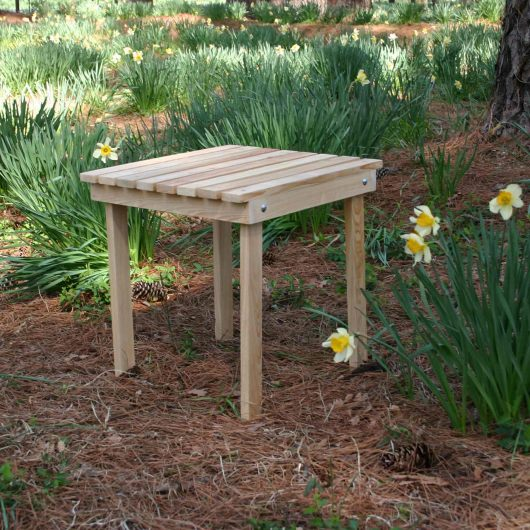 Hometown Exclusive Cypress Rustic Adirondack Side Table