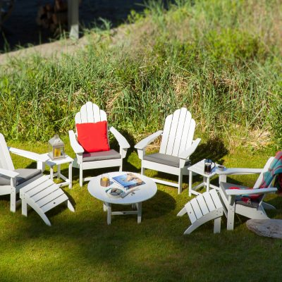 Long Island Adirondack 9-Piece Conversation Group in White