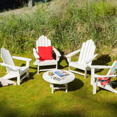Long Island Adirondack 5-Piece Conversation Group in White