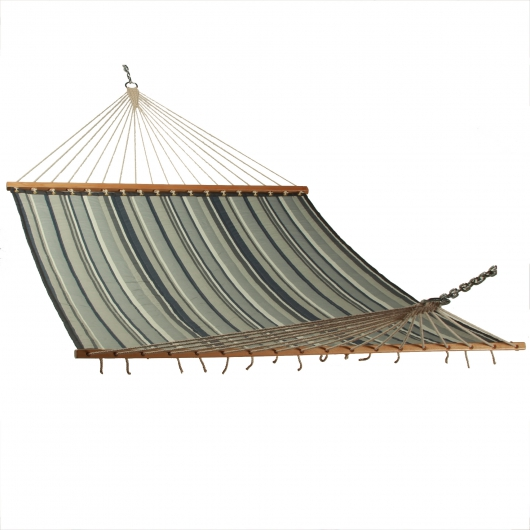 Large Polyester Quilted Hammock - Onyx Stripe
