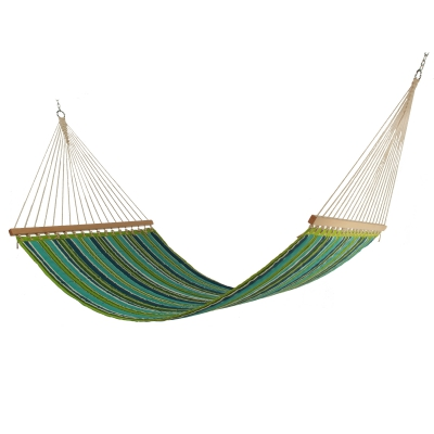 Large Polyester Quilted Hammock - Royal Peacock Stripe