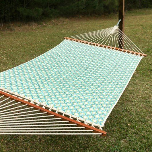 2 Person Quilted Hammock Made in the USA - Peacock Zinger
