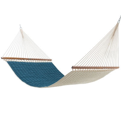 Large Quilted Sunbrella Fabric Hammock - Cast Laurel