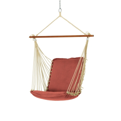 Sunbrella Cushioned Single Swing - Cast Cinnabar
